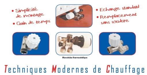 TKM ROBINET MONOTUBE DE RADIATEUR RENOVATION : TMC