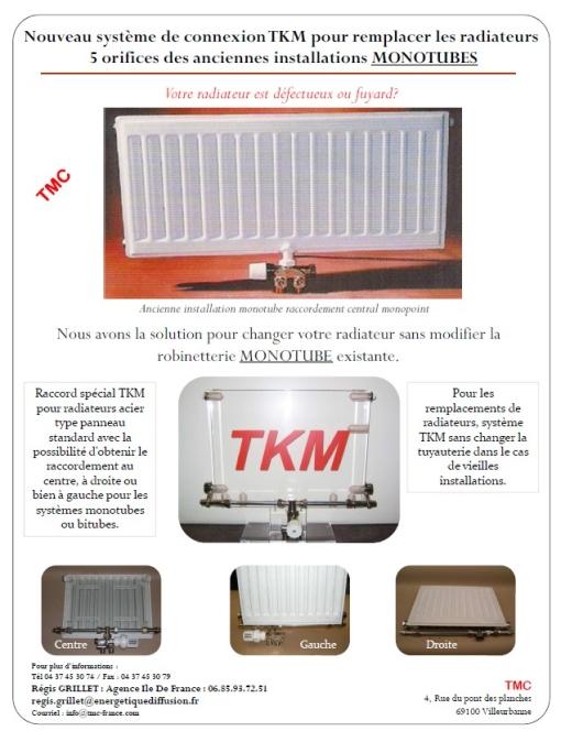 TKM ROBINET MONOTUBE DE RADIATEUR RENOVATION : TMC, TKM MONOTUBE