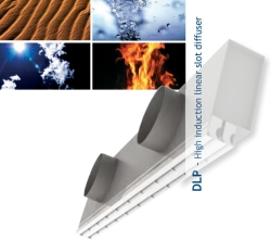 Diffuseur linéaire à fentes haute induction (DLP) Technoventil