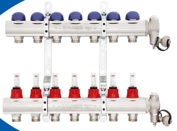 collecteur plancher chauffant sanitaire emmeti energ tique diffusion. Black Bedroom Furniture Sets. Home Design Ideas